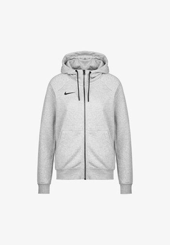 PARK - Sweater met rits - dark grey heather / black