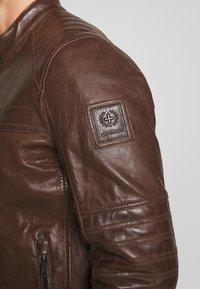 Strellson - BRIXTON - Leather jacket - cognac - 3