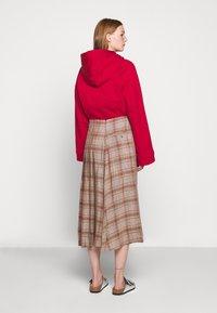 Rika - FLOW SKIRT - A-line skirt - brown/red - 2
