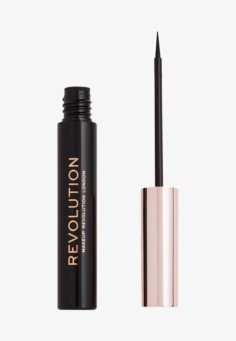 Makeup Revolution - SUPER FLICK EYELINER - Eyeliner - black