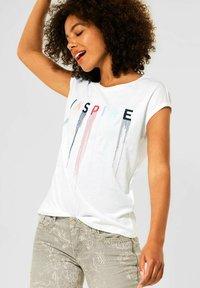 Street One - MIT STICKEREI - Print T-shirt - weiß - 0