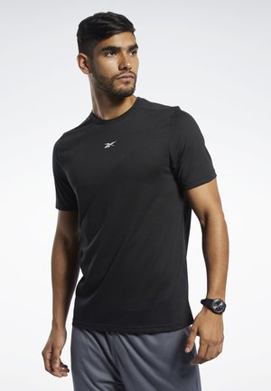 WORKOUT READY SUPREMIUM TEE - T-shirt z nadrukiem - black