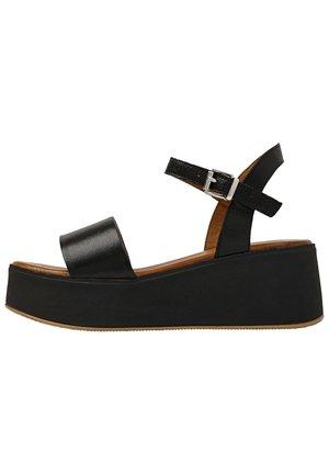 Sandalen met plateauzool - black blk