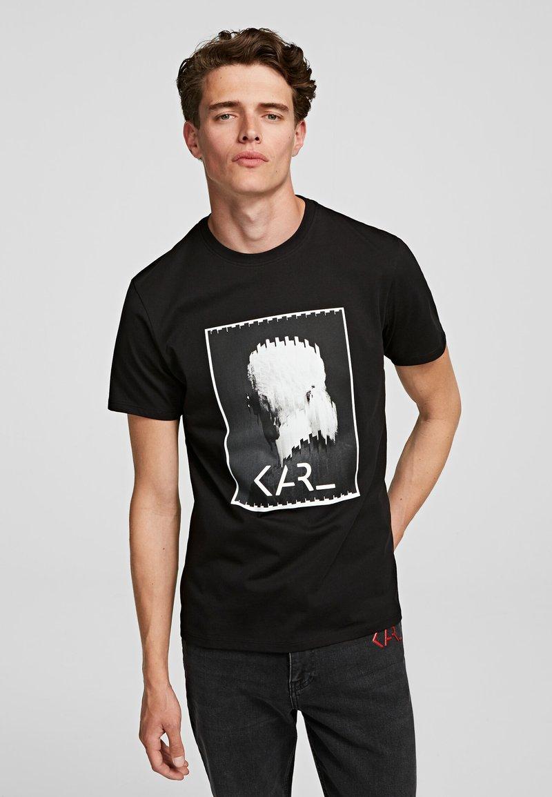 KARL LAGERFELD - LEGEND LOGO  - Print T-shirt - black