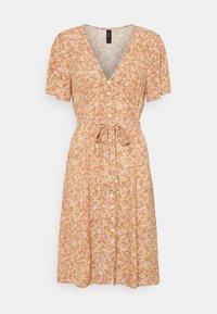 YAS - YASFARINA SHORT DRESS - Day dress - golden straw - 0