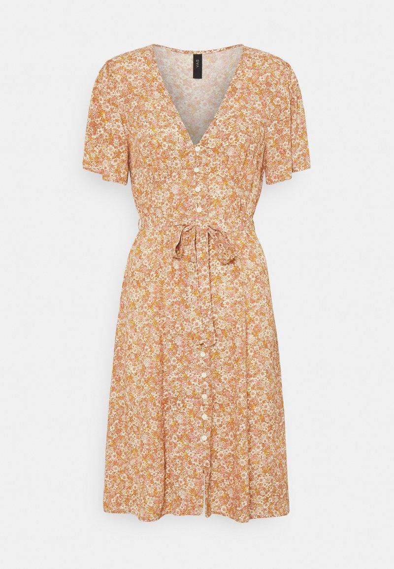 YAS - YASFARINA SHORT DRESS - Day dress - golden straw