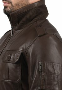 Solid - FAMASH - Veste en cuir - brown - 2