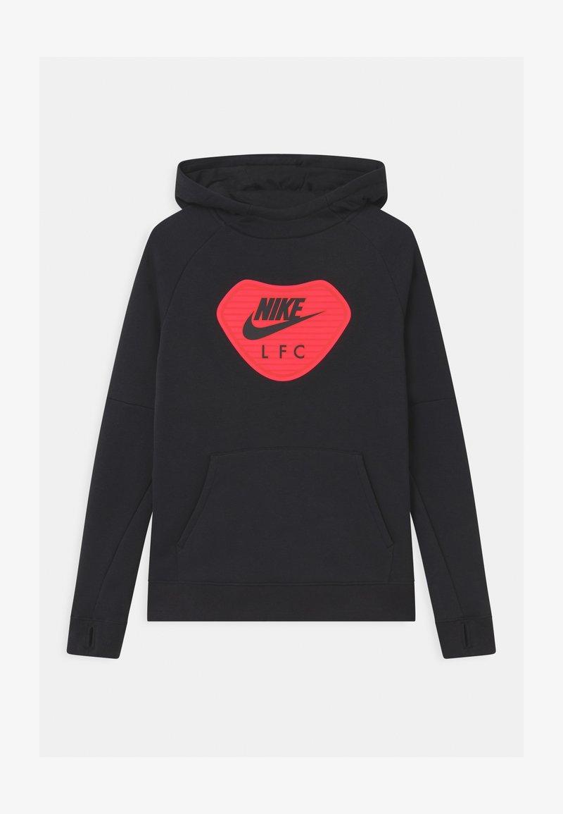 Nike Performance - LIVERPOOL FC HOOD UNISEX - Club wear - black/light crimson