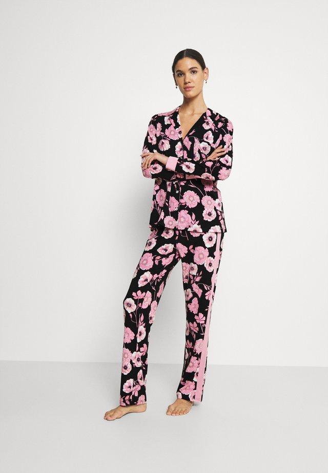 SET - Pyjama - black/rose