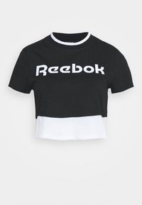 Reebok - LINEAR LOGO CROP TEE - T-shirt print - black - 4