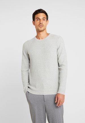 SLHOLIVER  - Strikkegenser - light grey melange