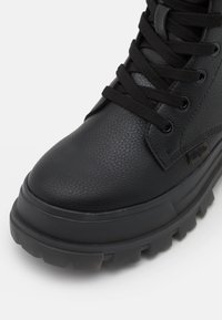 Buffalo - VEGAN ASPHA - Lace-up ankle boots - black - 5