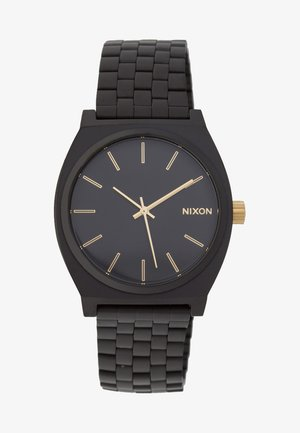 TIME TELLER - Watch - matte black/gold-coloured