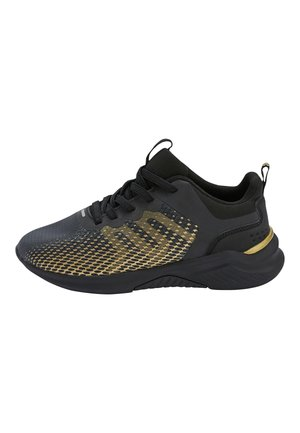 COBALT ELASTIC LACE TRAINERS (OLDER) - Trainers - gold