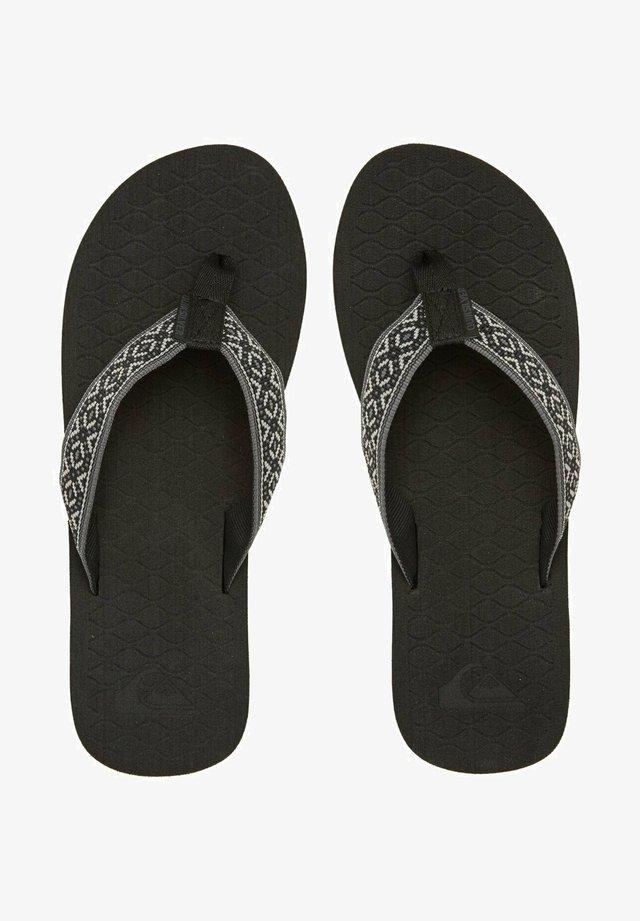 HILLCREST - T-bar sandals - grey/black/black
