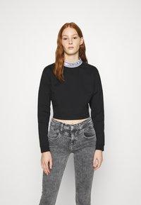Calvin Klein Jeans - LOGO ELASTIC MILANO - Long sleeved top - black - 0