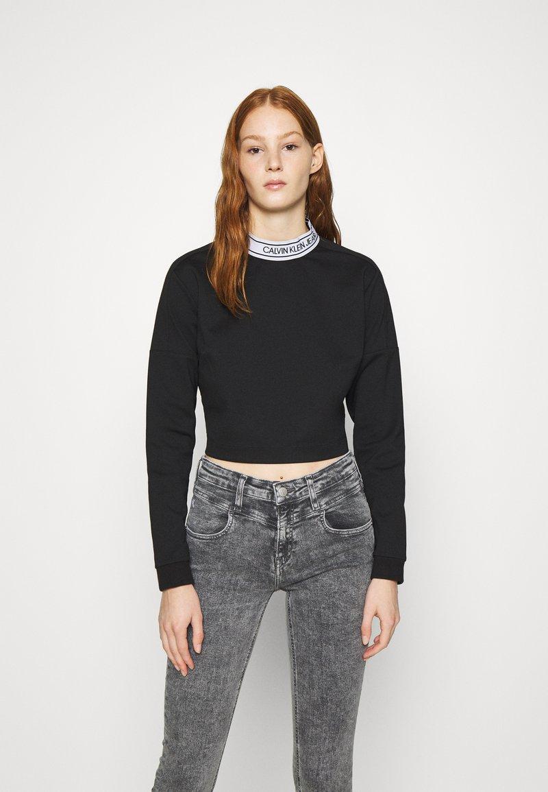 Calvin Klein Jeans - LOGO ELASTIC MILANO - Long sleeved top - black
