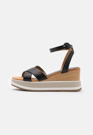 KADIO - Sandály na platformě - black
