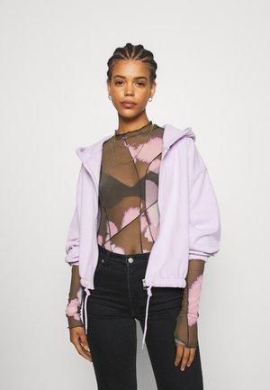 MIMI ZIP HODDIE - Bluza rozpinana - lilac