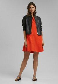 Esprit - DRESS - Jersey dress - orange red - 1