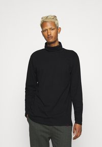 Denim Project - ROLLNECK TEE - Long sleeved top - black - 0