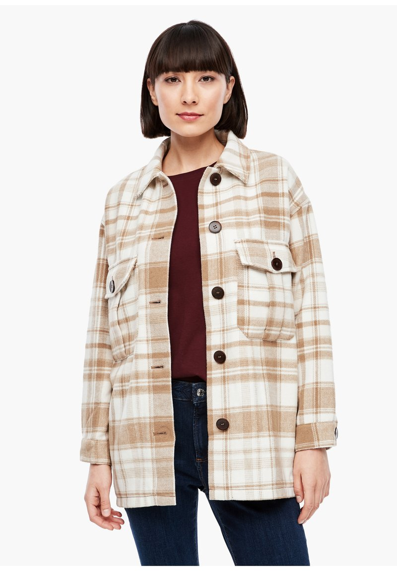 s.Oliver - Light jacket - offwhite check