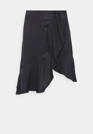 FRIGG RUFFLE SKIRT - A-line skirt - black