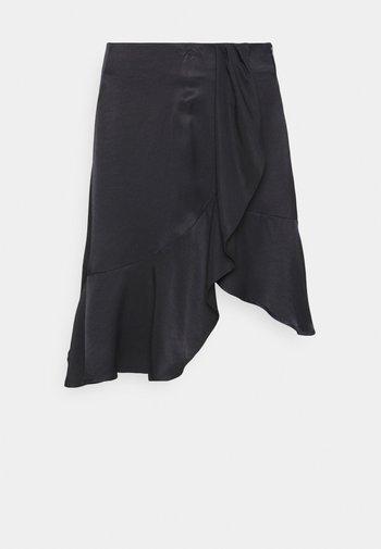 FRIGG RUFFLE SKIRT - Áčková sukně - black