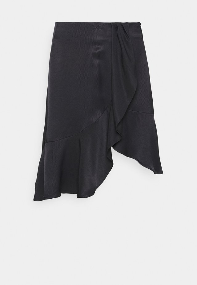 FRIGG RUFFLE SKIRT - A-Linien-Rock - black