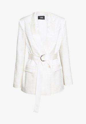 CAMEO BELT - Short coat - off white
