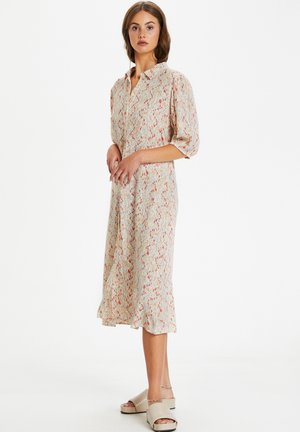 Shirt dress - whisper white splash print