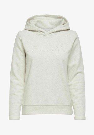 Jersey con capucha - white melange