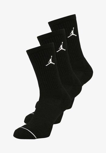 JUMPMAN CREW 3 PACK - Sports socks - black