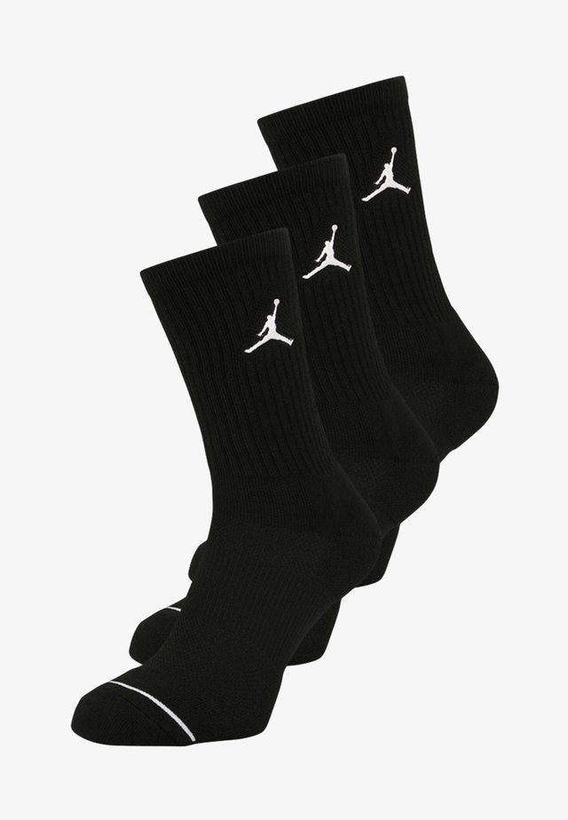 JUMPMAN CREW 3 PACK - Sports socks - black