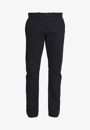 J.CREW STRETCH BRUSHED BROKEN TWILL - Chino kalhoty - navy grey donegal