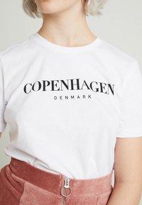 Even&Odd - T-shirt print - white - 4