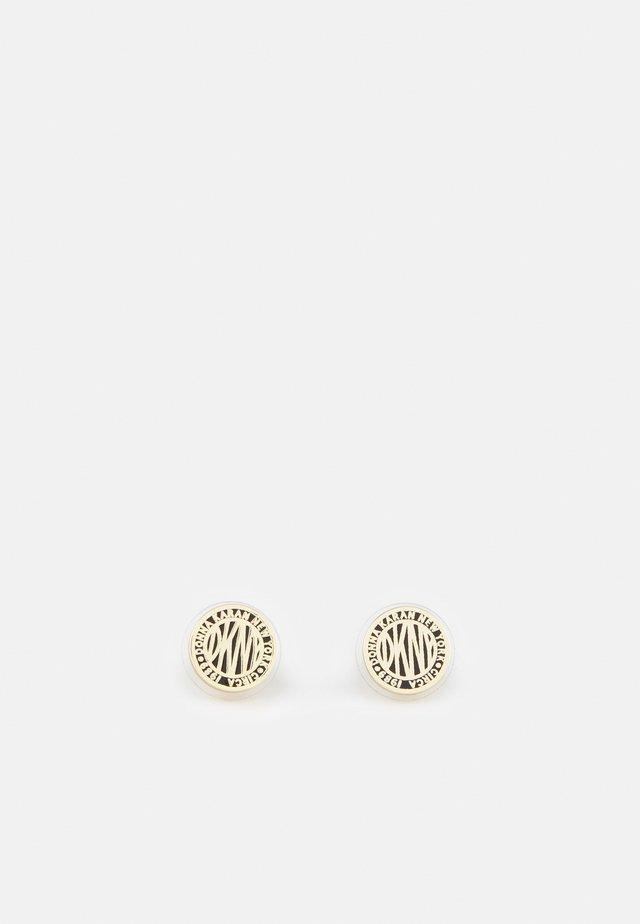 LOGO COIN STUD - Earrings - gold-coloured