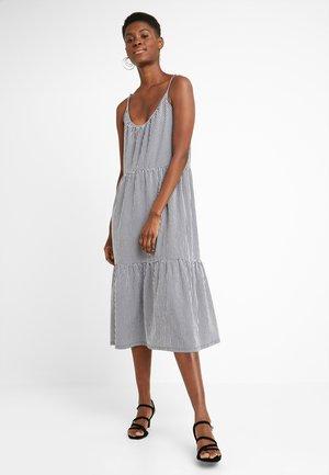TIRED DRESS - Maxi šaty - navy