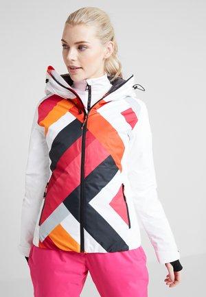 WOMAN JACKET FIX HOOD - Ski jacket - bianco