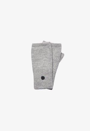 STUDIOS LUXE HALF - Fingerless gloves - pale grey marl