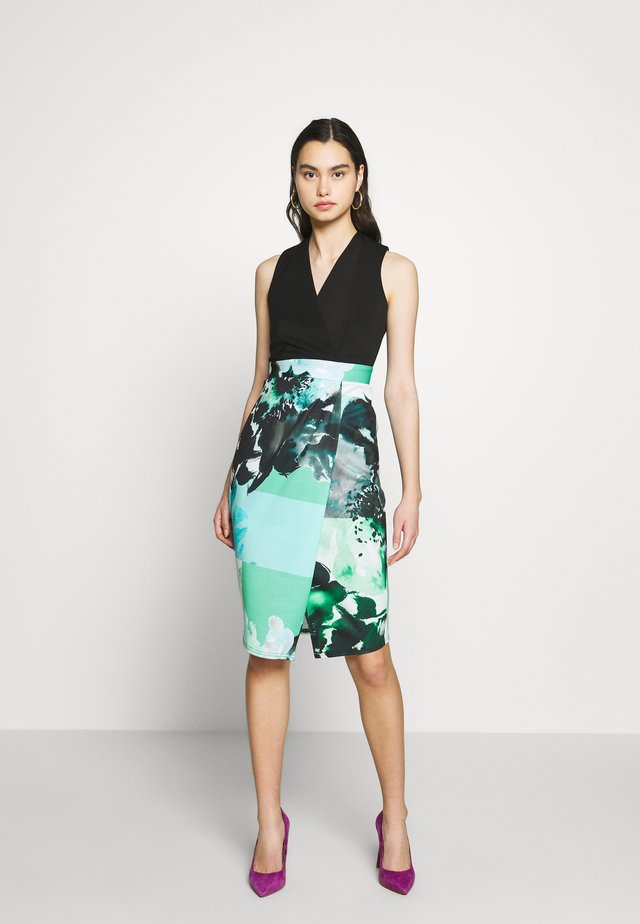 WRAP PENCIL DRESS - Korte jurk - mint