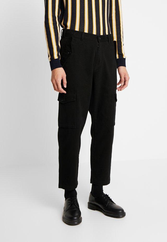 JET  - Pantaloni cargo - black