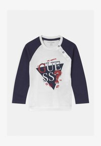 Guess - BABY - Long sleeved top - white/navy combo - 0