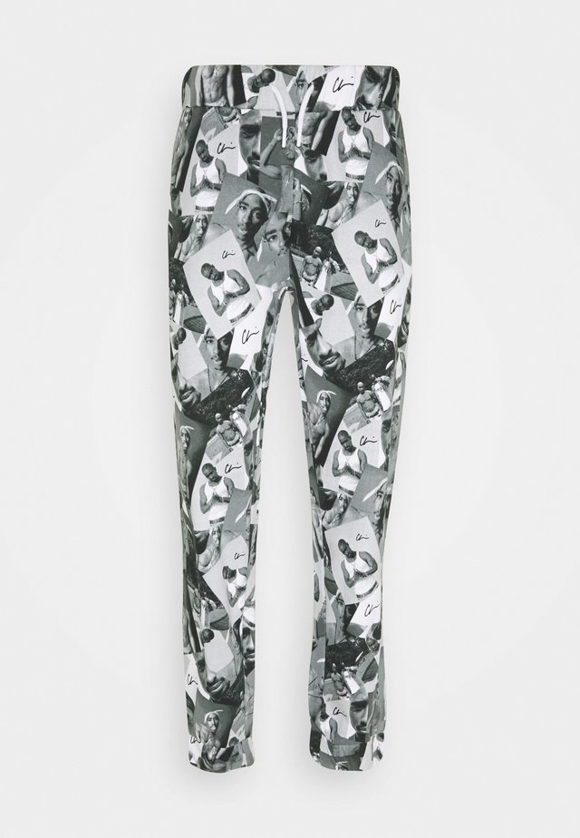 PAC PATTERN - Pantaloni sportivi - black grey / print photo pattern