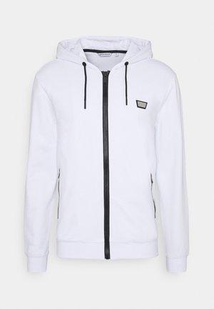 HOODIE SLIM FIT - Zip-up hoodie - bianco