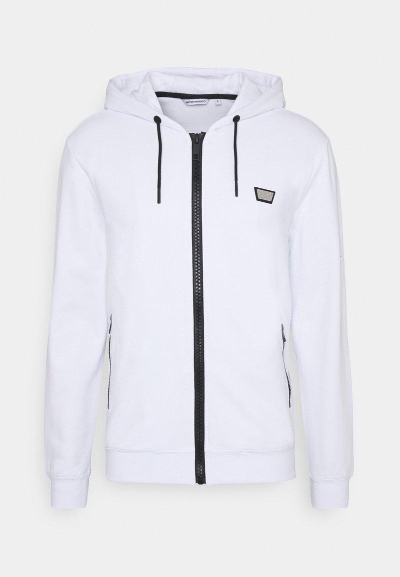 Antony Morato - HOODIE SLIM FIT - Zip-up hoodie - bianco