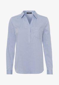 Blouse - soft blue melange