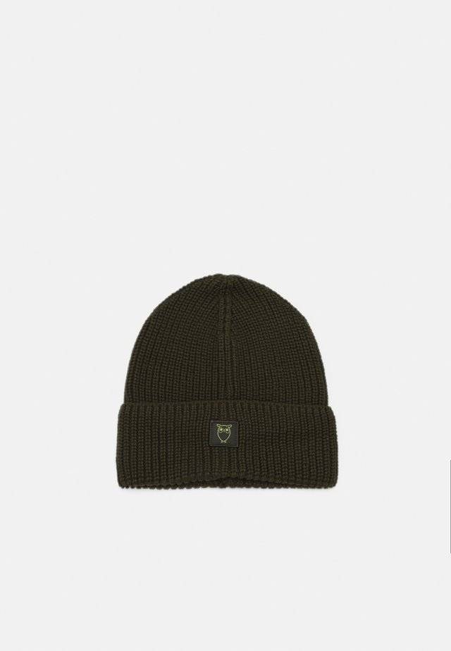 LEAF HAT UNISEX - Beanie - forrest night