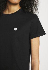 Opus - SERZ - Basic T-shirt - black - 4