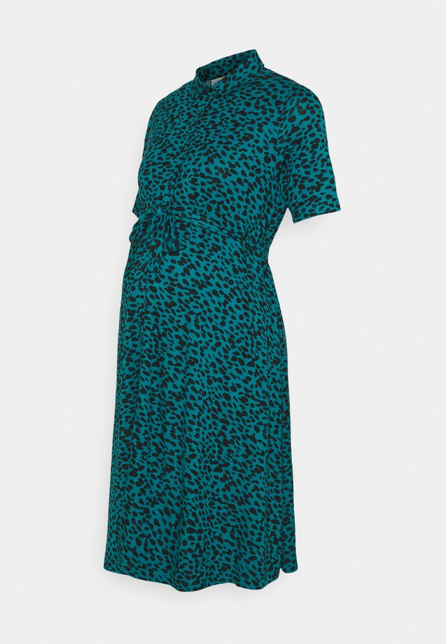 GEO DRESS - Jerseyklänning - teal